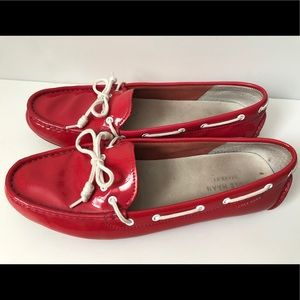 Cole Haan Patent leather Driving moccasins Great